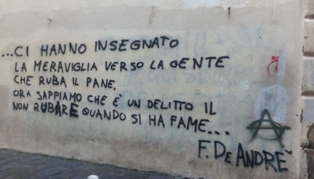 Genua - Spuren von FDA - D Schrift A De Wand