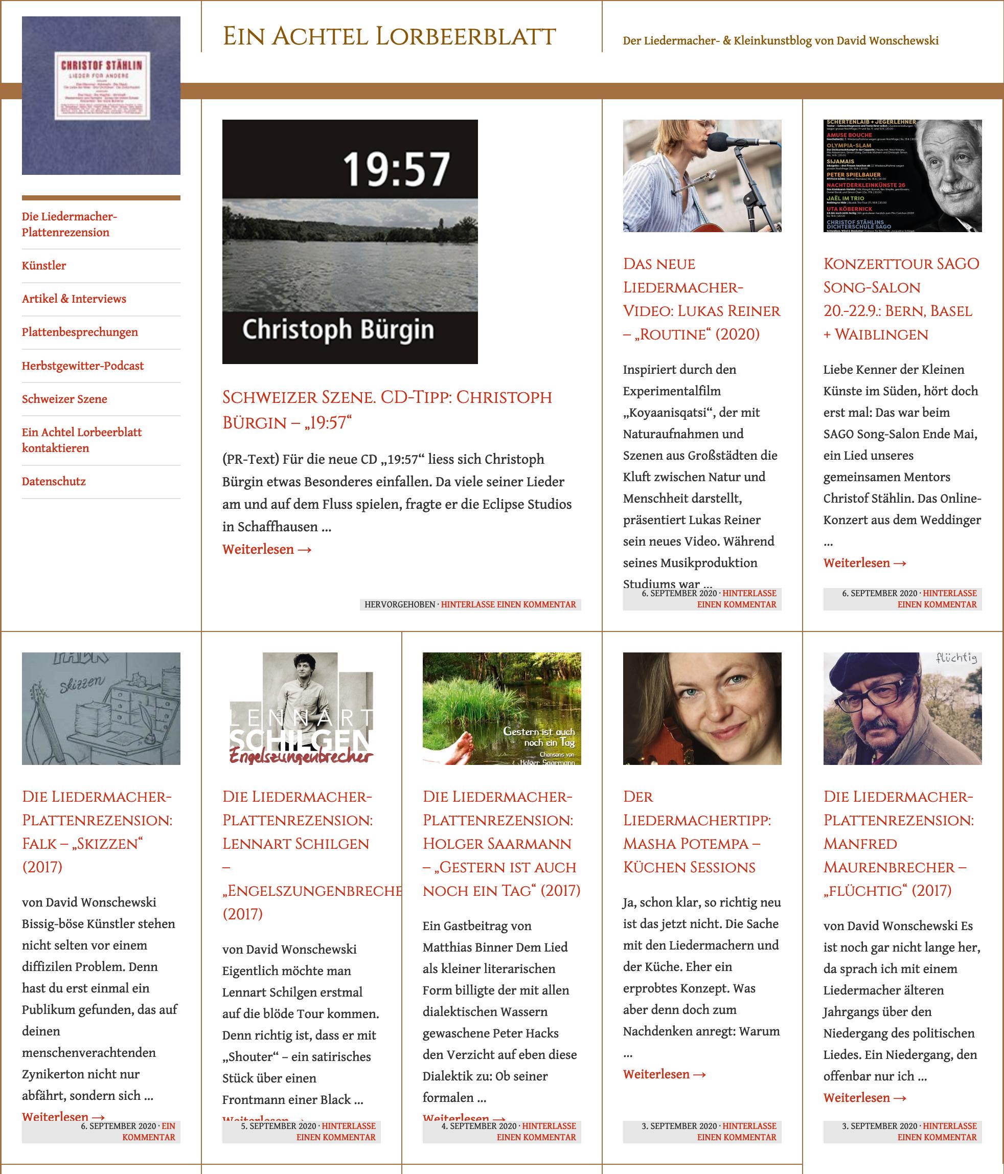 Der Liedermacher- & Kleinkunstblog von David Wonschewski